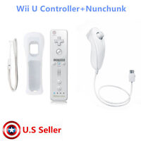 100%  New Remote Controller for Nunchuck Nintendo Wii Wii U Built in Motion Plus