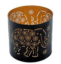 Stimmungsvoller Teelichthalter ELEFANT Windlicht 10 cm Terrassenlicht