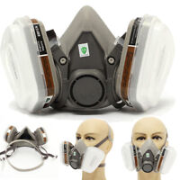 For 3m 6200 6001 7 pcs Suit Respirator Painting Spraying Face Gas Mask 5N11