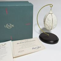 LENOX THE FRUITS OF LIFE CHRISTMAS Ornament with Stand IN ORIG BOX + COA (1ZHT)