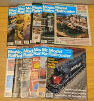 Lot of 12 1980s 1990s Model Railroader Magazine Trains Railroad