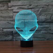 3D Pop-eyed LED Illuminated Alien Illusion Light Sculpture Desk USB Night Lamp