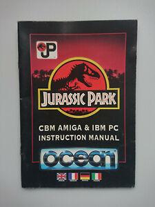 Jurassic Park Game Manual Commodore Amiga 500 600 1200 from Big Box