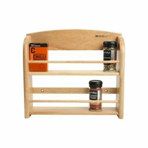 T&G Scimitar Wooden Wall Mounted 12 or 18 Jar Spice Rack Holder