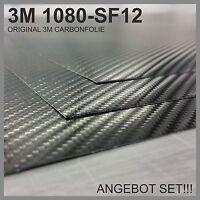 ANGEBOT SET! 3M Carbon Folie 2x 50x50cm Original 1080-SF12 Schwarz