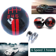 Resin Black and Red GEAR SHIFT KNOB STICK MANUAL 6 SPEED SHIFTER SELECTOR CAR