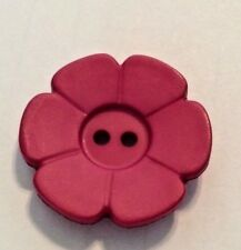 DILL BUTTONS #280927 ROSE FLOWERS-- 2 HOLE--28MM-- 6 PIECES