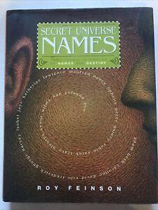The Secret Universe of Names Roy Feinson Hardback Dust Jacket 2004 1st Edition