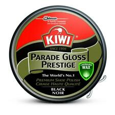 Kiwi Premium Parade Gloss Prestige Black Shoe Polish Cream Leather Boot Care