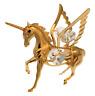 Pegasus Pferd Metallfigur vergoldet Kristallelemente 8 cm Geschenk