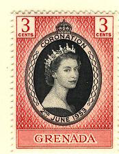 GRENADA 1953 CORONATION BLOCK OF 4 MNH