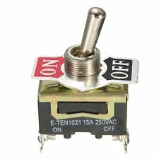 Heavy Duty Metal Toggle Flick Switch 2Pin ON/OFF SPST Single Pole Single Throw