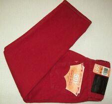 NEW! Authentic LEVI 501 Red Denim Jeans 30x24.5 Original Fit LEVI'S Button-Fly