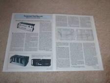 Mitsubishi DA-P10,DA-A15 Amplifier Review, 1977, 2 pgs