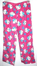 HELLO KITTY MICROFLEECE SLEEP PANTS PAJAMA FOR WOMEN SIZE MEDIUM(7-9)