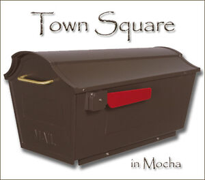 Town Square Mailbox Curbside Large Capacity Powder Coated 8 Colors & NO Rust