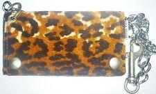 Retro Rise Above aggressive inline skate punk rock leopard spots leather wallet