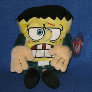 TY SPONGEBOB FRANKENSTEIN BEANIE BABY - MINT with TAG - SR - SEE PICS