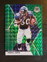 2020 Panini Mosaic Terrell Davis Green Prizm #68 Denver Broncos 🔥🔥🔥
