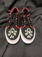 Adio Melbourne Black/Red Canvas Skate Shoe sz 8-1/2 71230502A Men's Gently Used