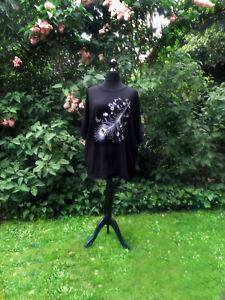 T-Shirt schwarz mit Feder++ neu+++neu