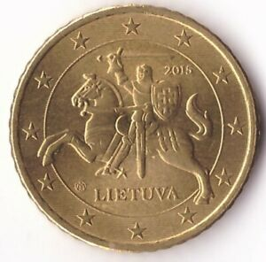 50 Euro Cent 2015 Lithuania Coin KM#210