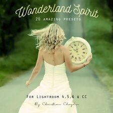New pack 20 presets-wonderland spirit! for lightroom 4, 5, 6 & cc