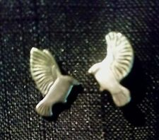 LAUREL BURCH Silver Bird in Flight Earrings Signed