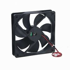 120x120x25mm 120mm 12cm Case Fan 12V 80 CFM Ball Brg 2 Wire PC Computer Cooling