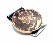 Stainless Steel Money Clip with Copper Bullion - Liberty Profile