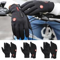 Men Women Winter Touch Screen Thicken Riding Windproof Waterproof Warm Gloves