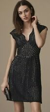REISS Marianna Graphic Lace Structured Scalloped Embroidered Dress 4 $465