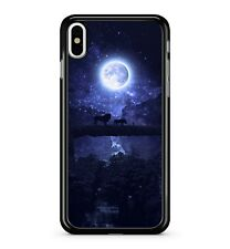 Full Shiny Moon Animal Starry Blue Galactic Space Night Sky 2D Phone Case Cover