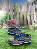 Brooks Adrenaline GTS 15 Size 9.5 Women's Running Shoes Silver/Blue 1201741B179