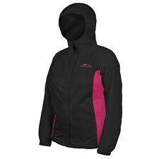 Grundens Women's Weather Watch Fishing Hooded Jacket Black w/ Pink - Select Size
