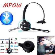 Mpow Wireless Bluetooth Headset Earphone Over Head Handsfree for Truck Driver