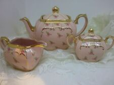 Sadler Cube tea set, Pink, Rare, Unused Sadler Cube Teapot