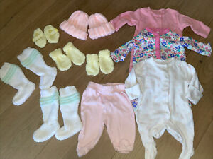 tiny baby clothes bundle girls - Twins