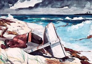 After the Hurricane Bahamas by Winslow Homer 60cm x 41.6cm Art Print