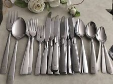 31 Oneida Stainless Flatware Glossy ACCENT w/Rexall Drug Coat of Arms