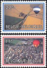 Belgium 1983 Hot Air Balloons/Aviation/Aircraft/Flight/Transport 2v set (be1002)