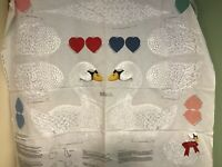 Vintage Cranston Print Works Co. The White Swan Panel Cut Out N Sew Quilt Doll