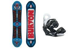 BURTON Protest 136 Kinder Snowboard Set Burton Mission Bindung Board-Set