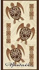Hawaii Beach Towel Brown  Turtle