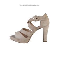 Sandalias y chanclas de mujer marrones de ante, Talla 38