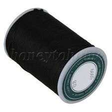 Flat Wax Polyester Cord for DIY Hand Work and Leather Products Black 256ft
