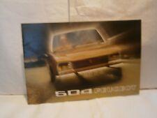 Catalogue  voiture pub auto  prospectus Peugeot 504