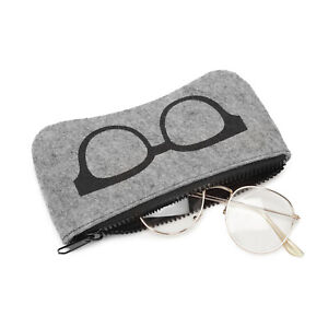 Eyeglasses Pouch Soft Portable Sunglasses Eyewear Case Bag With Cleaning Cloth