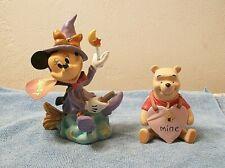 Disney Minnie Mouse Witch & Winnie The Pooh Figurines Halloween Valentine