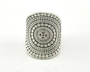 Adjustable Ring Antique Silver Plated brass (16mm 5US inner size) OZ3717 27mm
